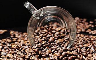 Kaffeebohnen Glas Tasse