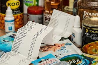 Supermarkt Einkauf Rechnung
