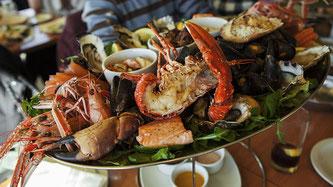 Meeresfrüchte Essen