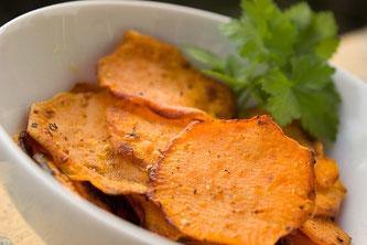 Chips Süßkartoffeln Gemüse