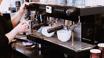 Espressomaschine in Gasthaus