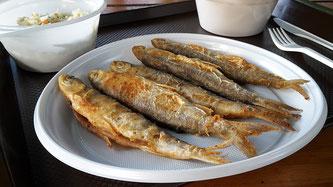 Fisch Teller gekocht