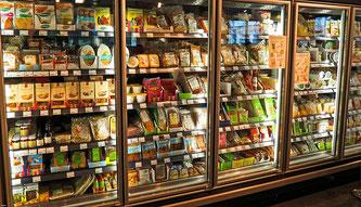 Supermarkt Kühlregal