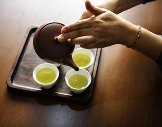 Tee grün Zeremonie