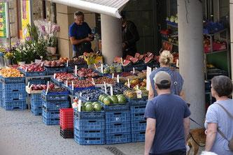 Wochenmarkt Gemüse Einkauf Essen Lebensmittel