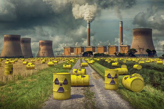 Atomkraftwerk Strahlung Radioaktivität Abfall