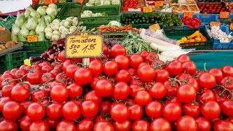 Markt Gemüse Tomaten offen