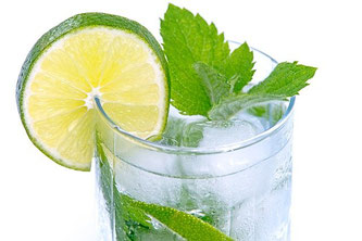 Limette Wasser Minze Hard Seltzer