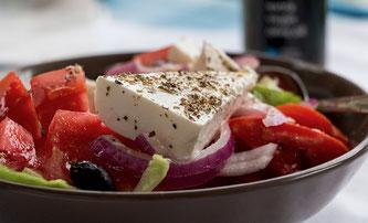 Salat in Schüssel