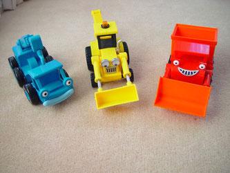 Buntes billiges Spielzeug, Bagger