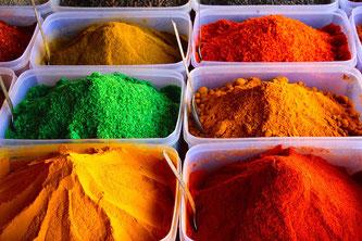 Safran Gewürze Farben