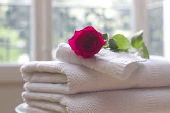 Handtücher Rose Hotel