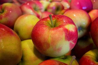 Frische saftige Äpfel