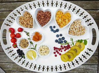 Low Carb Essen Nüsse Obst