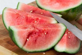 Melonen aufgeschnitten
