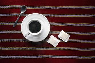 Kaffee Tasse Zucker Löffel