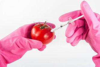 Tomaten Chemie Handschuhe