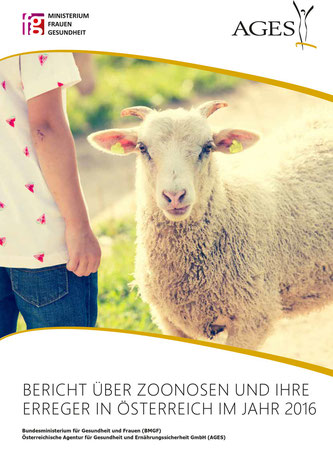 Broschüre mit Schaf und Kind