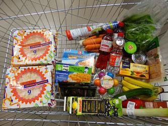 Einkaufswagen Lebensmittel