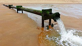 Abwasser Rohr Sand