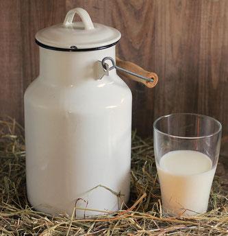 Milch Glas Kanne