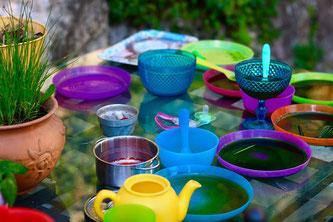 Kunststoff Geschirr Garten
