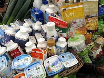Milchprodukte verpackt