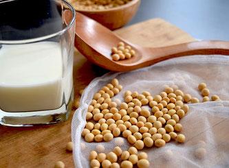 Milch und Sojasamen