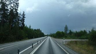 Bild: Fahrt nach Luleå