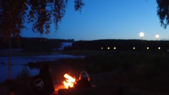Bild: Abendstimmung am Storforsen