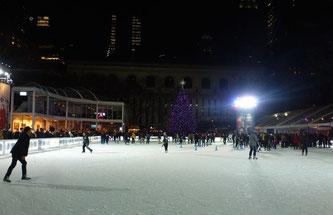 Bild: Der Bryant Park im Winter
