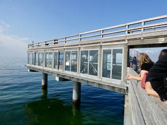 Bild: Die Meereslounge auf der Erlebnis Seebrücke in Heiligenhafen