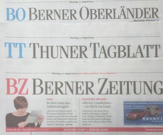Nadine Sinitskaya, Martin Reusser, Kizomba, Berner Zeitung, Thuner Tagblatt, Berner Oberländer, Langenthaler Tagblatt
