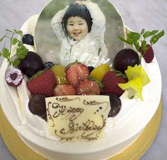 写真イラストケーキ