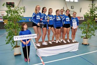 Die Mädchen des TV Hohenklingen holten am vergangenen Wochenende bei den in der Knittlin-ger Sporthalle durchgeführten Deutschen Meister-schaften im Hallenfaustball der U 16 einen sehr guten sieben Platz.