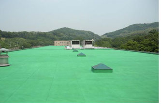 韓国の大学屋上に熱交換塗料塗布(海外)
