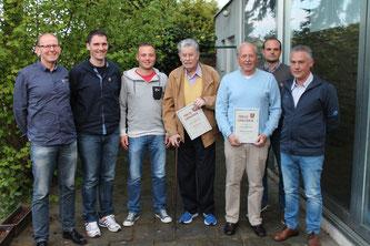Einige langjährige Vereinsmitglieder wurde geehrt.