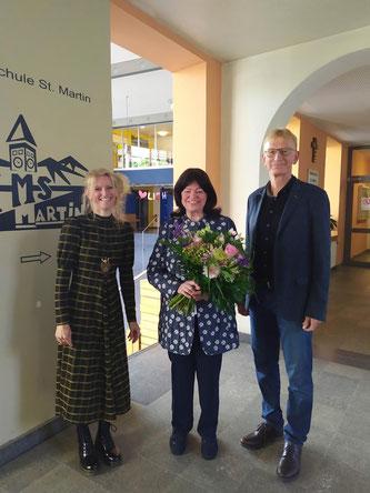 Frau Margit Augustin, Frau Waldtraut Minihold, Herr Prof. Dr. Reinhard Schlosser