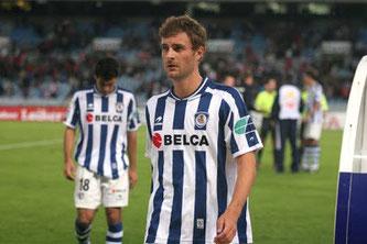 Skoubo, en 2007 con la Real en Segunda División.
