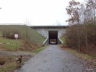 Kanalunterführung am Nutzfelder Weg, Bruchstelle
