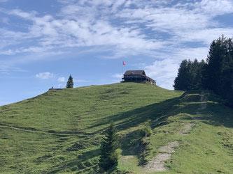 Bergrestaurant Hochhamm auf 1'200 Meter, Dach unserer Wanderung.