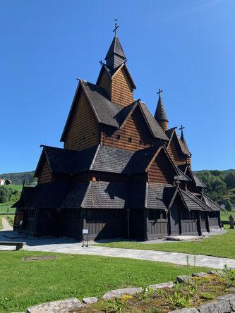 """""""Walgkirke"""" die grösste Holzkirche in Norwegen."""