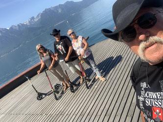 Montreux mit den Trottie's.