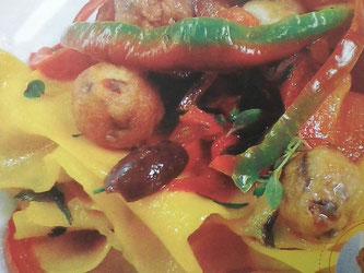 Ricetta friggitelli con la pasta fatta a mano