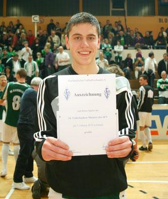 Im Jahr 2010 wurde Lucas zum besten Spieler des Hallenmasters-Finals gewählt.