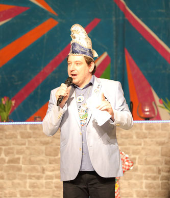 Stefan Jung in seiner Funktion als Präsident der Rebläuse.