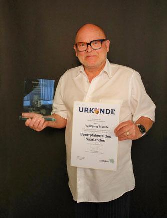 Wolfgang Blöchle bekam im vergangenen Jahr die saarländische Sportplakette verliehen.
