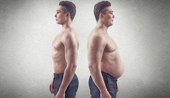 richtigen Ernährung haben zusätzliche Pfunde keine Chance sich am Bauch breit zu machen – © Undrey / Shutterstock.com