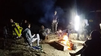 Gemütliches Feuer anstatt weiterer Bergungsversuche