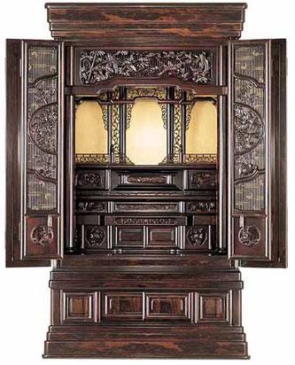 大型仏壇「宝輪」30号 シャム柿 国産